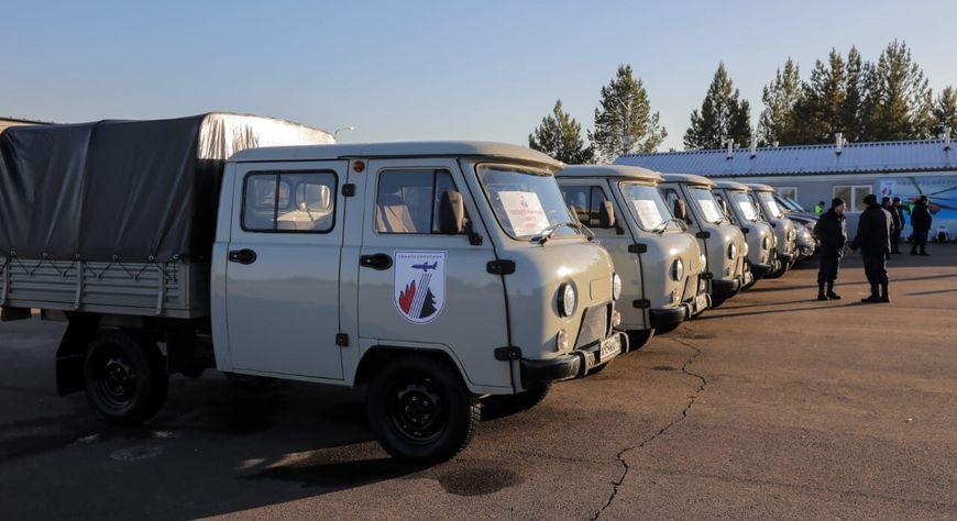 В Красноярский край пришла первая часть спецтехники для Лесопожарного центра «Север»